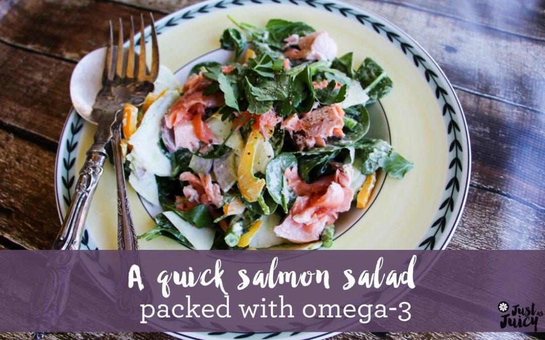 Eat Omega-3s to improve menopause side effects – and a salmon salad recipe